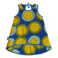 Blue and yellow circles dress