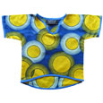Blue and yellow circles tunic